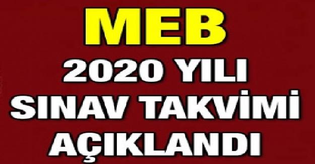 2020 YILI SINAV TAKVİMİ MEB TARAFINDAN YAYINLANDI