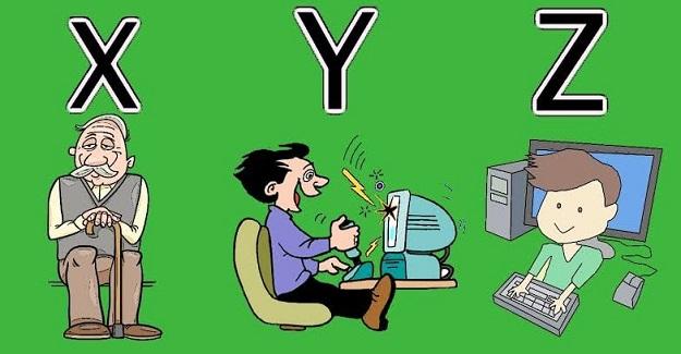 Nedir bu X, Y ve Z kuşakları biliyor musunuz?
