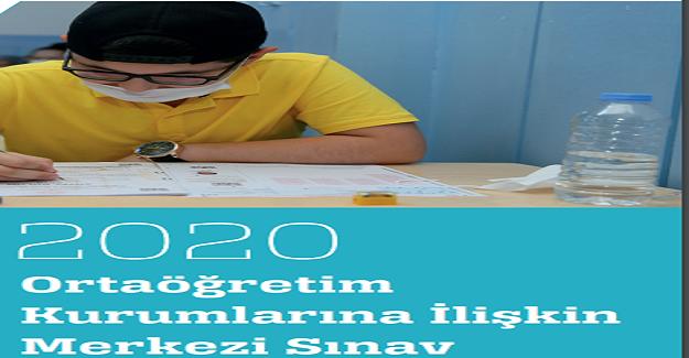 2020 Ortaöğretim Kurumlarına İlişkin Merkezi Sınav Raporu