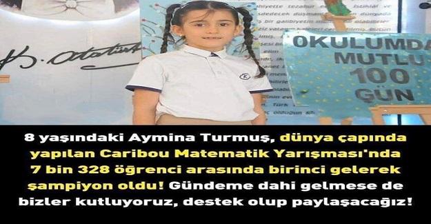 8 Yaşındaki Aymina Dünya Çapında Yapılan Caribou Matematik Yarışmasında 1. Oldu