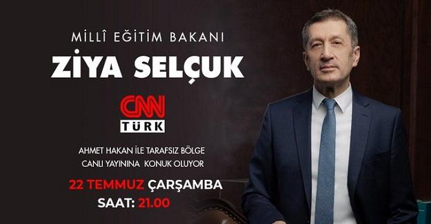 Bakan Ziya Selçuk Bugün Akşam Saat 21:00'da Ahmet Hakan'ın Sunduğu Tarafsız Bölgeye Konuk Olacak