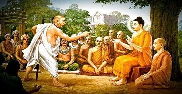 Buddha bir gün, öğrencileriyle bir ağacın altında otururken ansızın bir adam çıkagelir