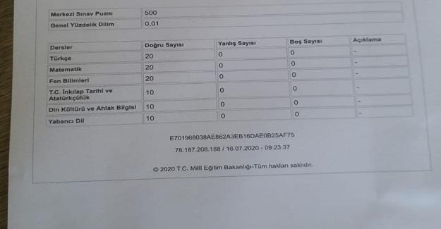 Kahramanmaraş'ta Mustafa Berat LGS'de Tüm Soruları Doğru Cevaplayarak 500 Tam Puan Aldı