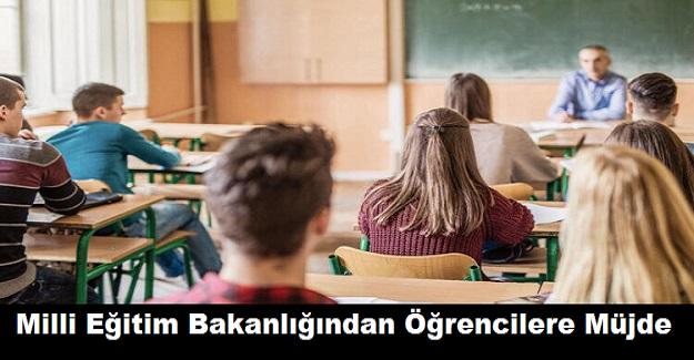 Milli Eğitim Bakanlığından Öğrencilere Müjde
