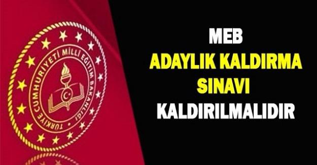 Türk Eğitim Sen Genel Başkanı Talip Geylan, Adaylık Kaldırılma Sınavı AKS Kaldırılmalıdır