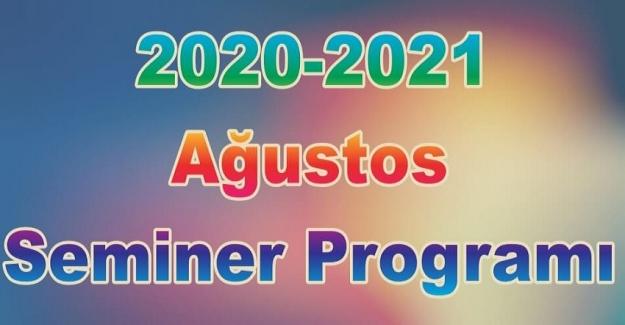 Öğretmenlerin Ağustos Eylül Dönemi Seminer Nasıl Olacak, Mesleki Çalışma Programı Tarihleri. Seminerler ne zaman başlıyor?