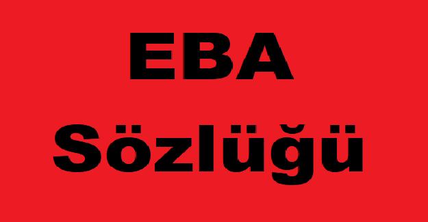 EBA Sözlüğü