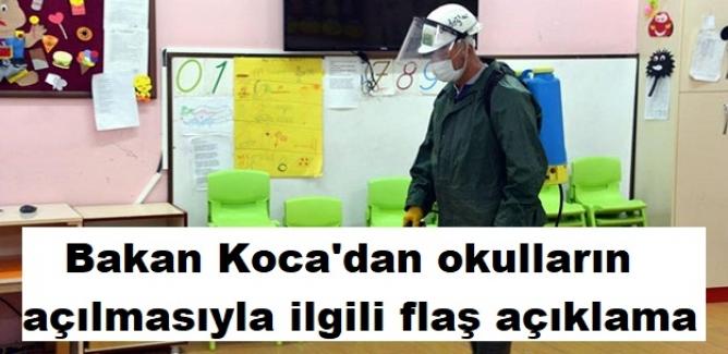 Sağlık Bakanı Fahrettin Koca'dan Okulların Açılmasıyla Ve Sokağa Çıkma Yasağına İlişkin Flaş Açıklama