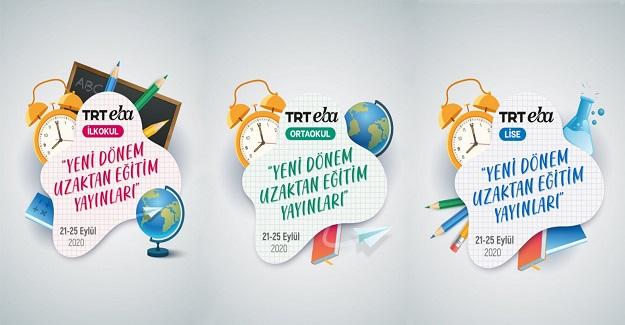 TRT EBA TV'DE YENİ YAYIN DÖNEMİ 21 EYLÜL'DE BAŞLIYOR