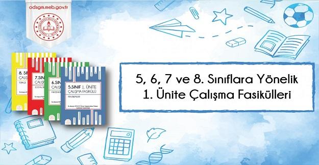 5, 6, 7 ve 8. Sınıf Düzeylerinde 1. Ünite Çalışma Fasikülleri MEB Tarafından Yayımlandı