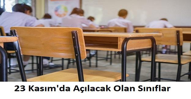 Bakan Ziya Selçuk 23 Kasım'da Açılacak Olan Sınıflar Hakkında Açıklamada Bulundu