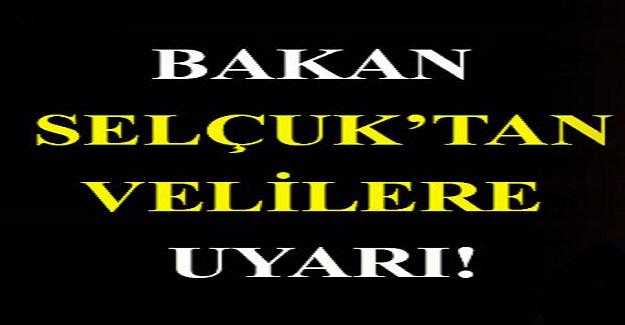 Bakan Ziya Selçuk'tan Velilere Flaş Uyarı! Lütfen Diyerek Paylaşıp Uyardı