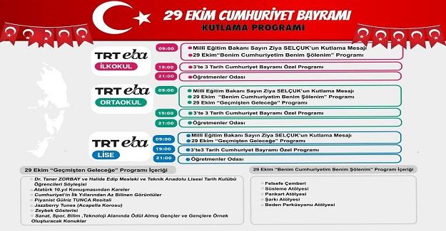 TRT EBA 29 Ekim Cumhuriyet Bayramı Kutlama Programı