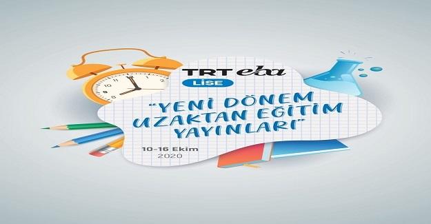 TRT EBA Lise Yeni Dönem Uzaktan Eğitim Yayınları