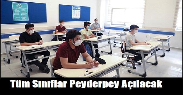 MEB Yüz Yüze Eğitim İçin Yol Haritasını Hazırladı: Tüm Sınıflar Peyderpey Açılacak