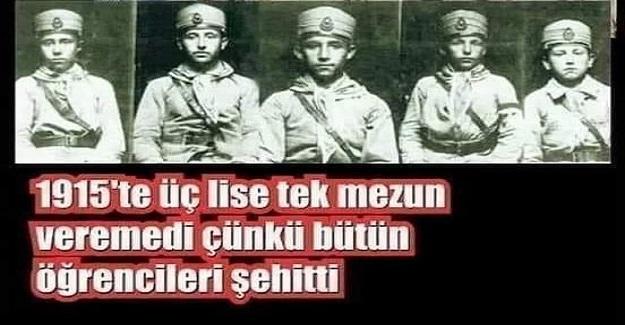 1915'te Üç Lise Tek Mezun Bile Veremedi