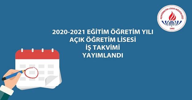 2020‐2021 EĞİTİM ÖĞRETİM YILI AÇIK ÖĞRETİM LİSESİ AÖL SINAV TARİHLERİ YAYINLANDI