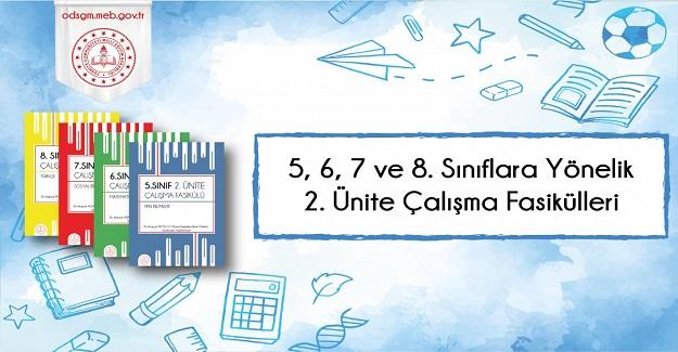 5, 6, 7 ve 8. Sınıf Düzeylerinde 2. Ünite Çalışma Fasikülleri MEB Tarafından Yayımlandı