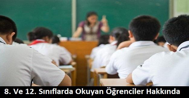 8. ve 12. Sınıflarda Okuyan Öğrenciler Hakkında Bakan Selçuk'tan Açıklama