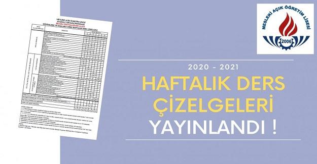 AÖL 2020- 2021 HAFTALIK DERS ÇİZELGESİ