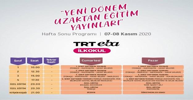"""EBA TRT TV'de """"Haftanın Özeti"""" yayınları başlıyor."""