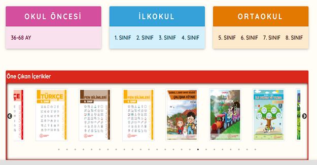 MEB okul öncesi, ilkokul ve ortaokullardaki öğrenciler için hazırlanan tüm ders kitapları