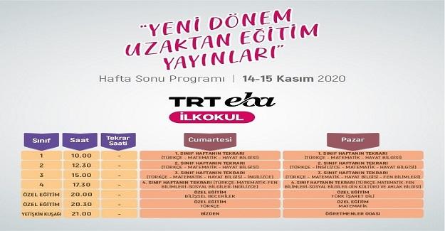 TRT EBA Kanalları Hafta Sonu da Dopdolu