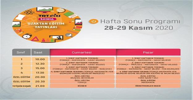 TRT EBA Kanallarında Bu Hafta Sonu Programı