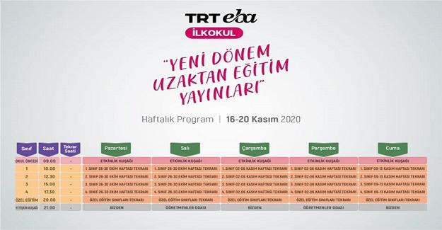 TRT EBA TV Ara Tatil Uzaktan Eğitim Yayınları
