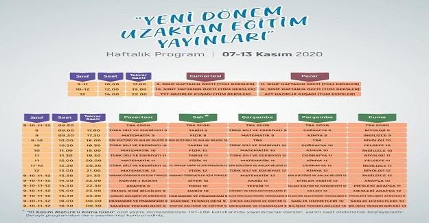 TRT EBA TV Lise Yeni Dönem Uzaktan Eğitim Yayınları devam ediyor.