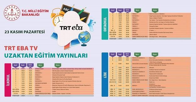 TRT EBATV Uzaktan Eğitim Yayınları