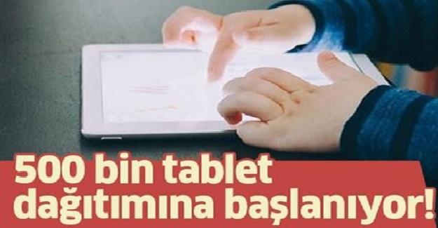 Yıl Sonuna Kadar 500 Bin Tablet İhtiyaç Sahibi Öğrencilere Ulaştırılacak