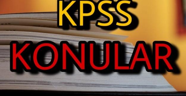 2021 KPSS Ortaöğretim Konuları ve Soru Dağılımları