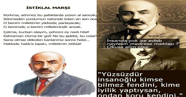 20-27 Aralık Mehmet Akif Ersoy' u Anma Haftası