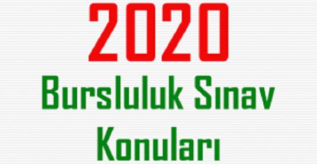 5. Sınıf Bursluluk Sınavı Türkçe Konuları