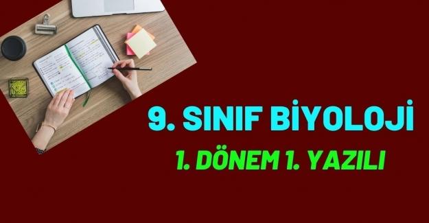 9. SINIF LİSE BİYOLOJİ DERSİ 1. DÖNEM 1. YAZILI