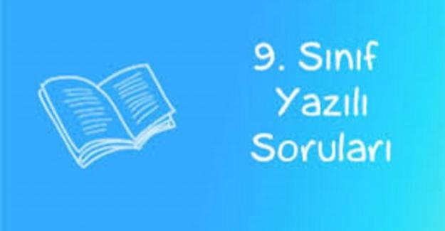 9. Sınıf Tük Dili ve Edebiyatı 1. Dönem 1. Yazılı Soruları ve Cevapları