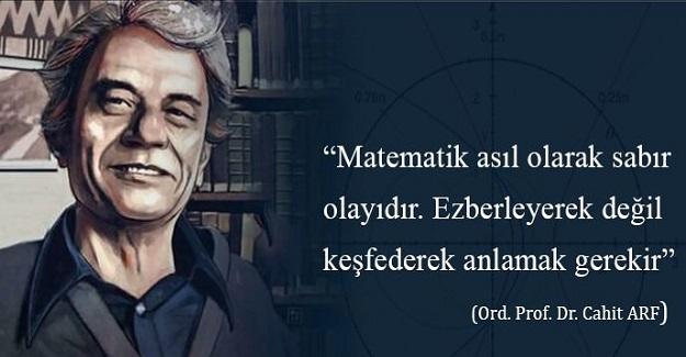 """Matematik Ve Bilim Dünyasının En Önemli İsmi""""Ordunayus Prof. Dr. Cahit Arf """""""