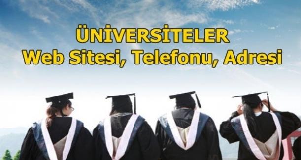 TÜRKİYE'DEKİ TÜM ÜNİVERSİTELERİN WEB SİTE ADRESLERİ
