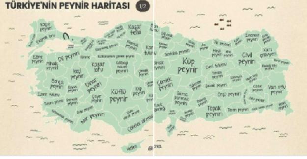 Türkiye'nin peynir haritası. Hangi Şehrin Peyniri Meşhurdur?