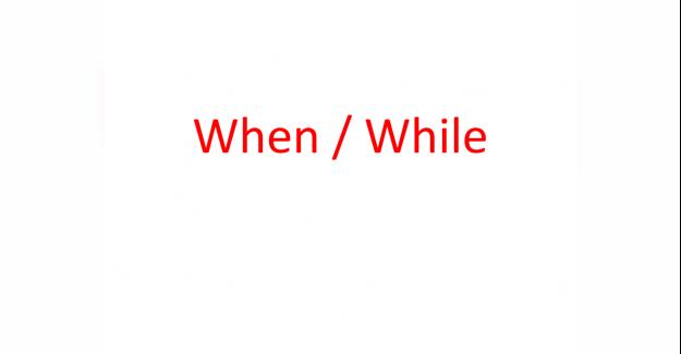 When While ile ilgili cümleler