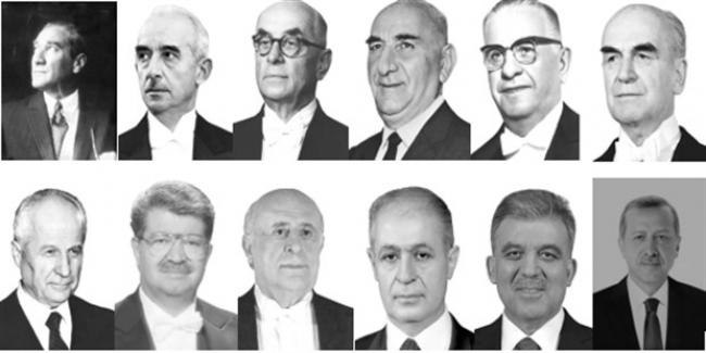 1923'ten Günümüze Türkiye Cumhuriyeti Cumhurbaşkanları