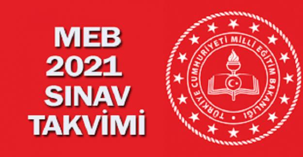 2021 MEB SINAV TAKVİMİ