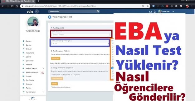 EBA'ya Test Yükleme ve Öğrenciye Gönderme