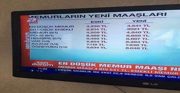 İki Gündür Öğretmen Maaşını 6.074 Olarak Gösteren Gazete ve Televizyon Programları
