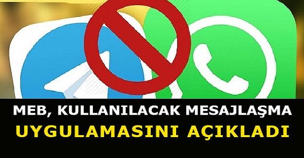 Mesajlaşma Uygulamalarına İlişkin MEB'den Flaş Karar: Artık Sadece Bu Uygulamalar Kullanılabilecek
