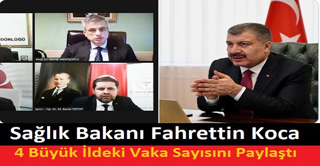 Sağlık Bakanı Fahrettin Koca, 4 Büyük İldeki Vaka Sayısını Paylaştı