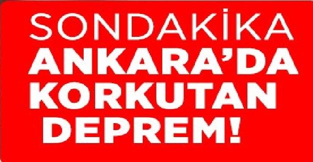 Son Dakika: Başkent Ankara'da Korkutan Deprem