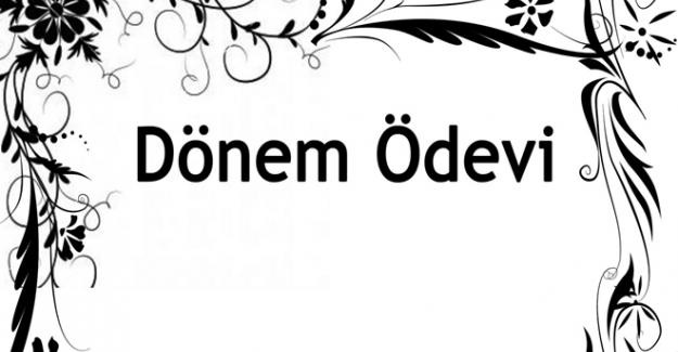 Türkçe Dersi Performans Ödev Kapakları