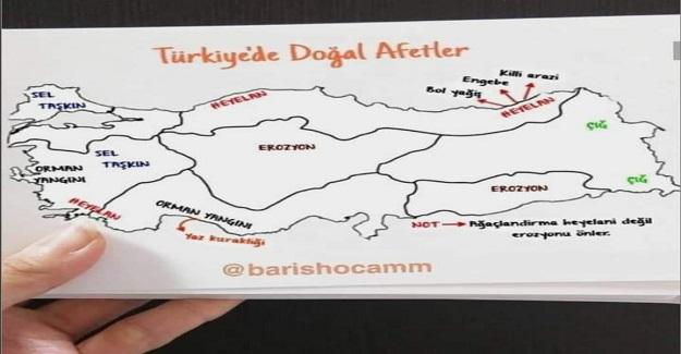 """TÜRKİYE'DE YAŞANAN """"DOĞAL AFETLER"""""""